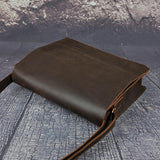 Vintage Distressed Buffalo Leather Messenger Laptop Bag