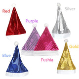 Multi Colors Santa Claus Sequins Hats Caps Christmas Decor of Adult Children's Hats XMAS New Year's Gifts Home Party Supplies