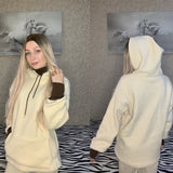 Lamb Plush Women Hooded Autumn And Winter 2020 New Korean Style Long Sleeve Hoodies Cotton Blend Warm Plus Size Loose Casual