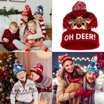LED Christmas Hat Light Up Knit Hat Warm Children Adults Hats New Year Christmas Tree Xmas Home Party Decoration