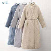 New Design 2020 Women Winter Thick Coat Warm Parka Water proof Maxi Long Puffer with Belt Oversized Casual Outerwear