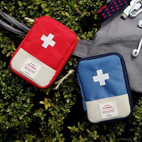 Portable Travel Emergency Bag Survival First Aid Kit Pack Travel Sports Bag Outdoor Pill Survival Organizer Supplies