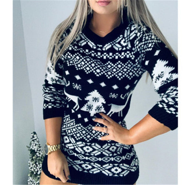 2020 Unisex Girs Christmas Sweater Slim Santa Elf Funny Christmas Jumper Female Autumn Winter Tops Clothing Soft Hot Sale
