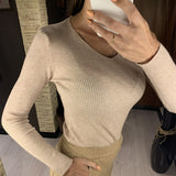 Colorfaith Ne'w 2020 Autumn Winter Women's Sweaters Pullover V-Neck Minimalist Bottoming Pink Tops Multi Colors SW1053