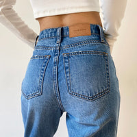 Women's Jeans Baggy Jeans For Women 2020 Mom Jeans High Waist Blue Loose Washed Fashion Straight Denim Pants Vintage Streetwear