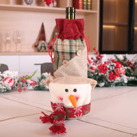 Christmas Wine Set Santa Snowman Elk Wine Bottle Set Christmas Wine Bottle Decoration