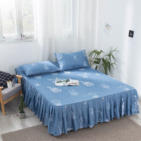 Bed-skirt Bed Fitted Sheet Bedspread Cover Ruffle Bed Spread Covers With Skirts For Beds Modern Bedcover Twin Full Queen King