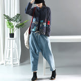 Autumn Winter Arts Style Women Long Sleeve Vintage Short Coat Patchwork Cotton Linen Single Breasted Thicken Jackets S407