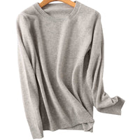 100% Merino Wool Cashmere Sweater Women 2020 Autumn Winter Warm Soft O-Neck Long Sleeve Knitted Pullover Jumper Femme Sweater
