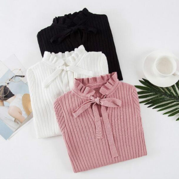 2020 Autumn Winter Knitted Slim Sweaters Solid Female Cotton Soft Elastic Color Pullovers Bandage Long Sleeve Sweaters Women