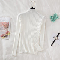 Croysier Pullover Ribbed Knitted Sweater Autumn Winter Clothes Women 2020 High Neck Long Sleeve Slim Basic Woman Sweaters Tops