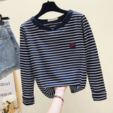 gkfnmt Casual Women T-Shirt Long Sleeve Korean Style Slim Basic Cotton Tshirt Top Womens Clothing Autumn Winter T Shirt Femme