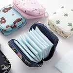 Small Cosmetic Bag Girl Lipstick Bag Women Make Up Organizer Bag Beautician Makeup Pouch Sanitary Pads Bags Toiletry Beauty Case