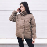 Cotton clothing female short paragraph 2020 new Korean version of loose ins bread clothes thick winter coat lattice tide
