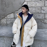 Winter -20℃ Oversize Jacket Female Coat Patchwork Windbreaker Women Padded Zipper Outwear Parka Thick Streetwear Overcoat Warm