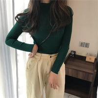 Autumn Women Pullovers Sweater Knitted Long Sleeve Elasticity Korea Casual tops Jumper Slim O-Neck Female Clothing 2020