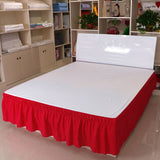 Solid Color Bed Skirt American Fashion Simple Elastic Band Bed Apron Bed Cover Dormitory Bed Cover Decoration Without Pillowcase