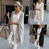 Korean 2020 Women's Casual Long Sweater Cardigan Soft Comfortable Strong Simple Solid Free Size Loose Thin Cardigan