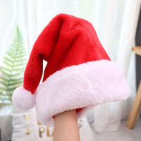 5 pcs Red Plush Christmas Hats For Adult Children Xmas Caps Chiristmas Party Supplies Hat Christmas Decorations For Home 2018