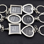 Valentines Day Gift Personalized Picture Frame Keychain Souvenir Wedding Gifts for Guests Bridesmaid Gift Party Favors Present