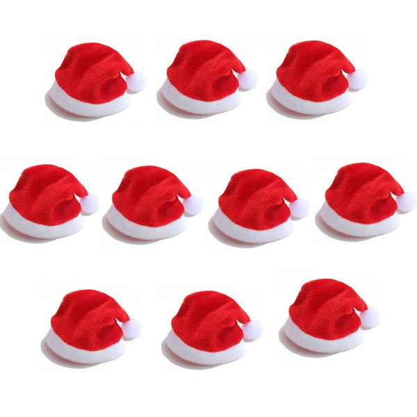 10pcs/lot Fashion Mini Christmas Santa Hat Cup Bottle Cover Christmas Crafts Accessories Gift Home Decorations 20% off