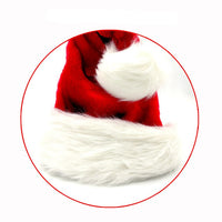 1pc High Quality Christmas Santa Claus Red Hats Caps For Adult And Children XMAS Decor New Year's Gifts Home Party Supplies