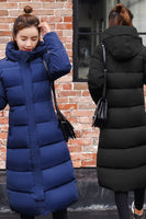 Plus Size 3XL Down Jackets 2019 Fashion Women Winter Coat Long Slim Thicken Warm Jacket Down Cotton Padded Jacket Outwear Parkas