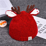 Cute Cartoon Elk Baby Hat Winter Christmas Knitted Kids Hat Warm Infant Baby Boy Girls Cap Ear Protection Children Beanie Bonnet
