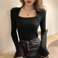 Autumn Winter Spring Women Sweaters Long Sleeve Korean Pullovers Women Half Turtlenecks Warm Jumpers Knitted Sweater With Neck