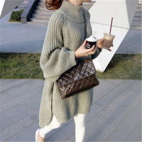 The New Autumn/Winter 2020 Version Of Women's Loose Knit Wear Pullover Lazy Looses Sweater Long-Sleeved Dress To Keep Out Cold