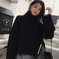 Turtleneck Thick Winter Sweater Women Pullover Girls Tops Loose Autumn Female Knitted Outerwear Sweaters Warm Oversize Cashmere