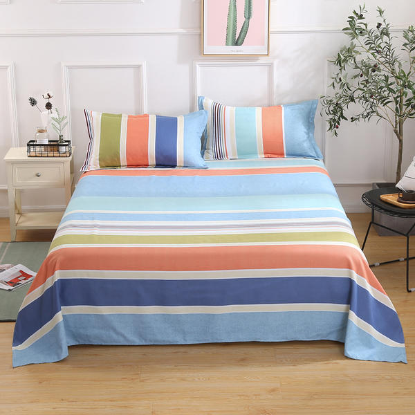 1/3 Pcs Bed Set Flat Sheet Adults/kid Thickened Cotton Bed Sheet Sandding Bedding Linen for King Queen Full Twin Size Pillowcase