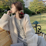 winter plus size Knitted Solid Sweater Women Clothing 2020 Khaki Beige Pink Oversize Cardigans Loose Womens Coats Casual Fashion
