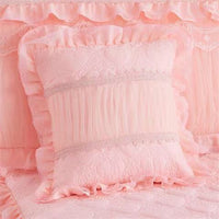 1 Pc Lace Bed Skirt +2pcs Pillowcases Bedding Set Princess Lace Bedding Bedspreads Fitted Bed Sheet For Girls King Queen Size
