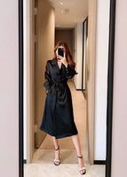 Spring Autumn new fashion women Thin Trench Coat clothes Long sleeve sashes Office lady Chic Female windbreaker
