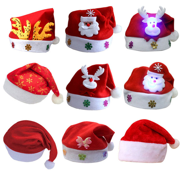 2020 Christmas Hat For Kids And Adults Navidad Snowman/Deer/Santa Claus Pattern 2021 Christmas Decoration Cap