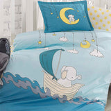 Elephant Kids Bedding Set for Children Baby Bed Set Cotton100x150 cm Baby Quilt Baby Pillow crib duvet cradle 100% cotton