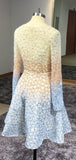 Stunning Sparkly Beading Sequin Long Sleeve V-Neck Homecoming Dresses cg1000