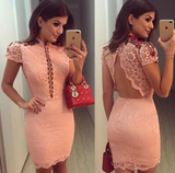 pink homecoming dress with cap sleeve   cg10084