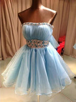 Sky Blue Beading Homecoming Dress,Sexy Party Dress   cg10120