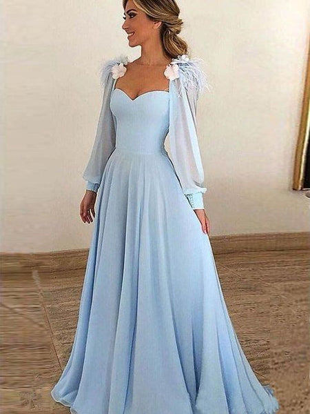Simple blue long prom dress, blue evening dress, blue formal dress cg1014