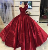 Burgundy One Shoulder Prom Dresses Pageant Gown Princess Dress   cg10156