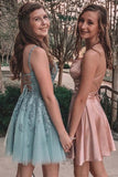 Light Blue Homecoming Dresses, Pearl Pink Homecoming Dress   cg10181