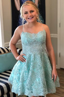 a-line blue hoco party dresses with appliques homecoming dresses   cg10250