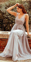 formal grey long prom dresses, cheap a line prom dresses, simple long semi formal dresses    cg10271