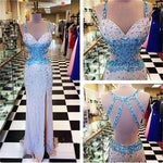 Mermaid Prom Dresses,Prom Dress,Slit Prom dress   cg10338