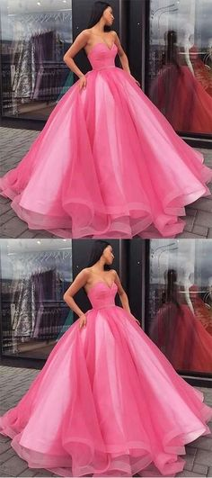 Ball Gown Sweetheart Pink Prom Dress   cg10363