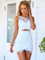 Homecoming Dress,white dress,short dresses,homecoming dresses,modest homecoming dress  cg1043