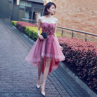 CUTE SWEETHEART NECK TULLE SHORT PROM DRESS  cg10455