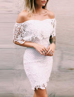Strapless Short White Lace Homecoming Cocktail Dress With Ruffles cg1066